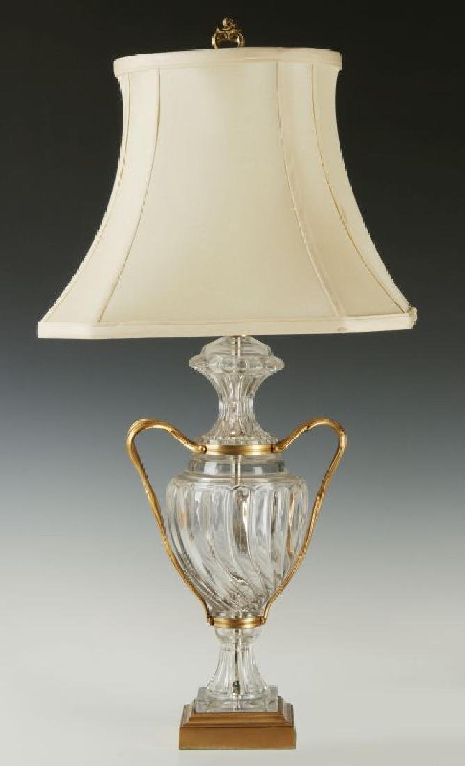A BACARRAT-QUALITY FRENCH CRYSTAL TABLE LAMP