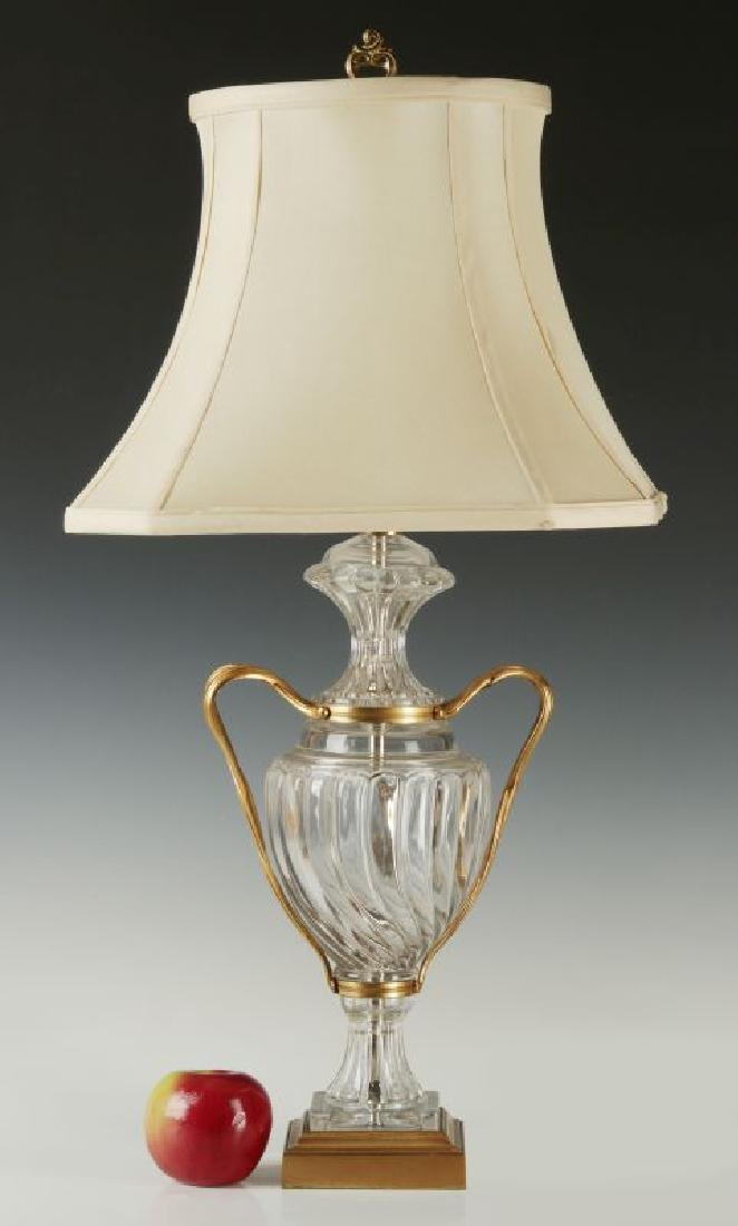 A BACARRAT-QUALITY FRENCH CRYSTAL TABLE LAMP - 2
