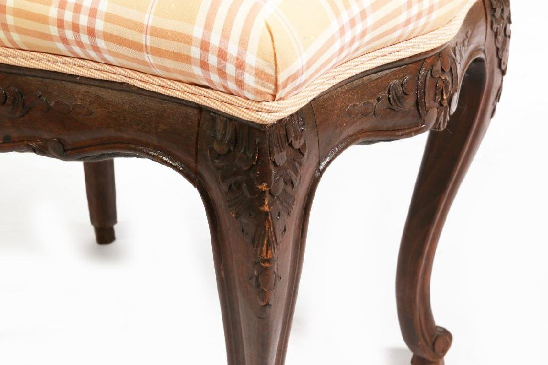 AN EARLY 20TH C LOUIS XV STYLE COUNTRY FRENCH STOOL - 2