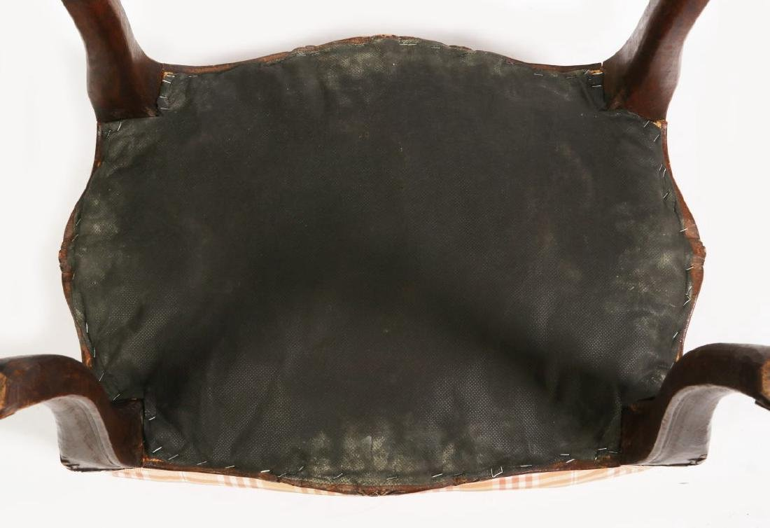 AN EARLY 20TH C LOUIS XV STYLE COUNTRY FRENCH STOOL - 5