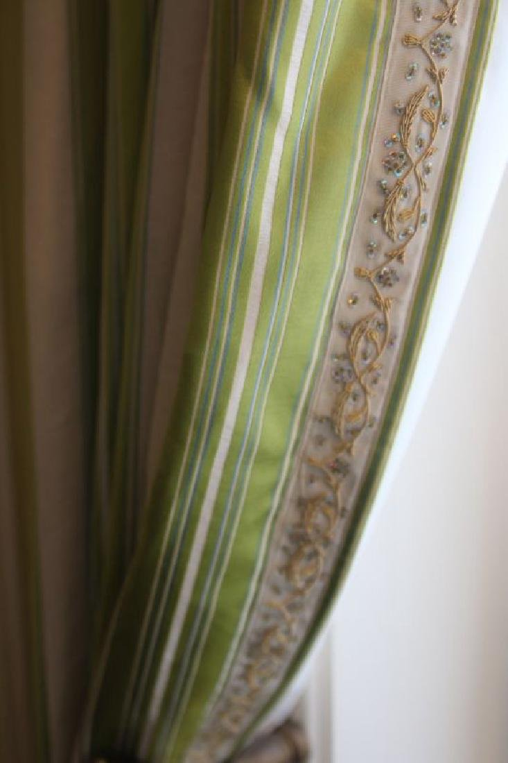 FOUR CUSTOM DRAPERY PANELS WITH GOLD THREAD - 7