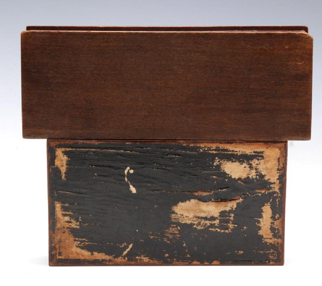 CIRCA 1900 CARVED AND INLAID BOXES - 5