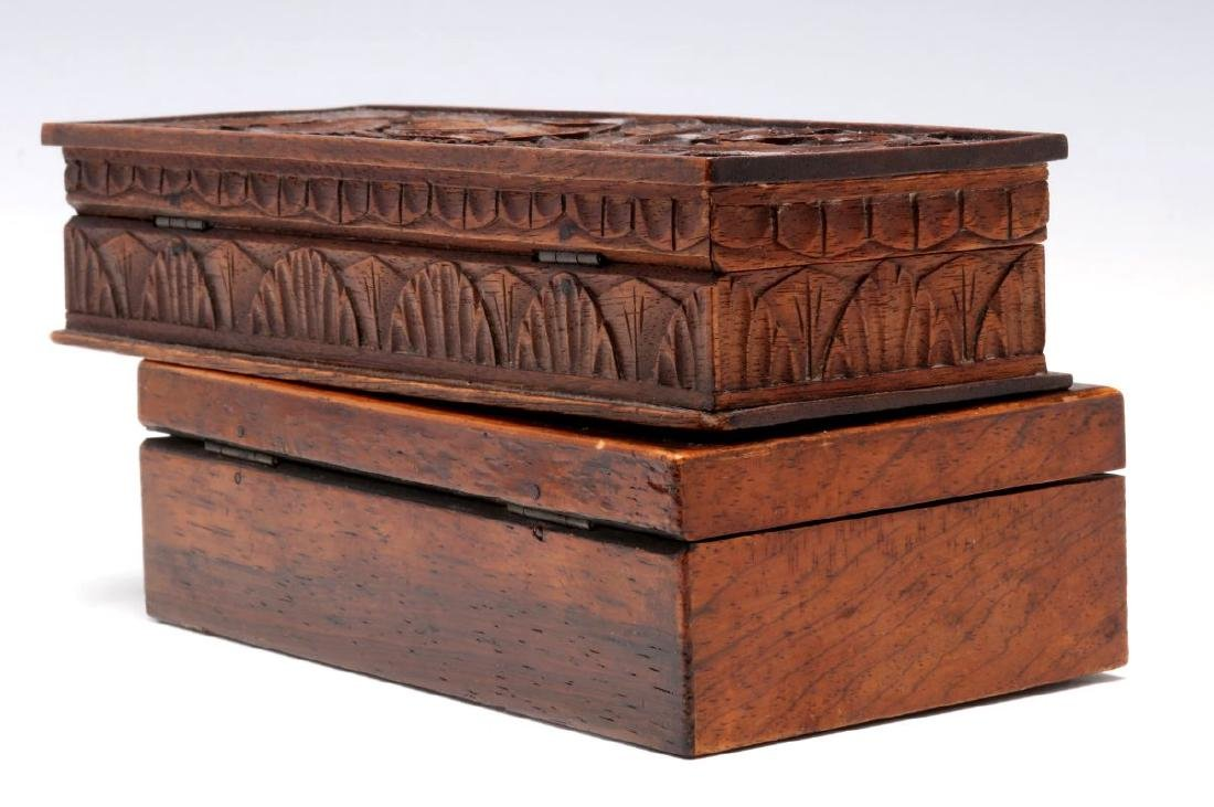 CIRCA 1900 CARVED AND INLAID BOXES - 6