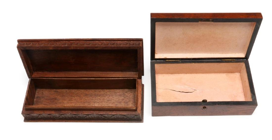 CIRCA 1900 CARVED AND INLAID BOXES - 7