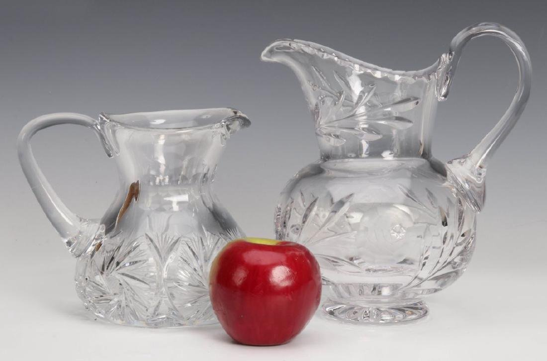 TWO CUT GLASS PITCHERS - 2