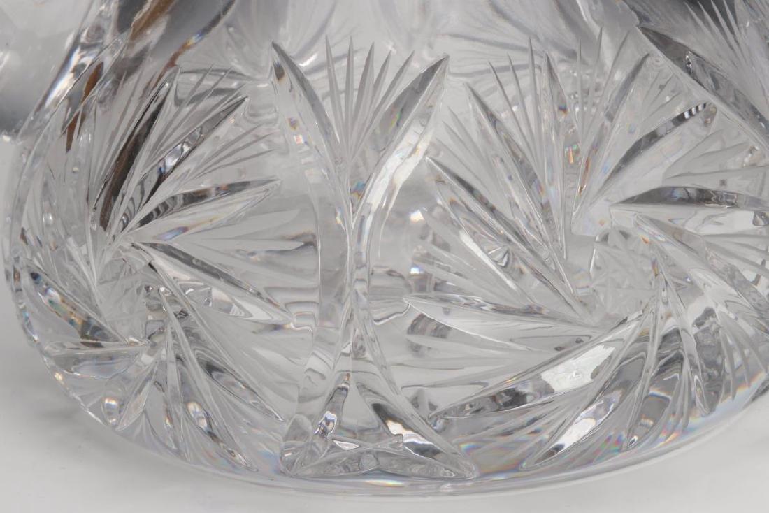 TWO CUT GLASS PITCHERS - 4