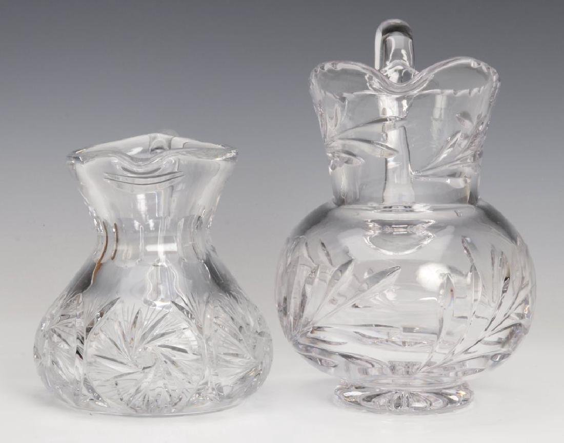 TWO CUT GLASS PITCHERS - 7