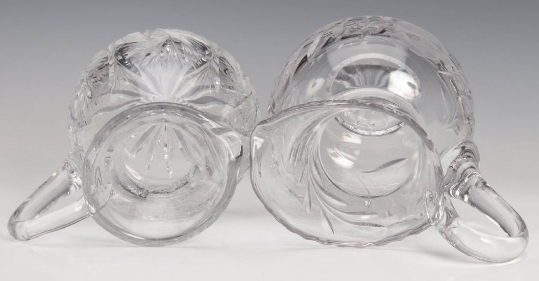 TWO CUT GLASS PITCHERS - 8