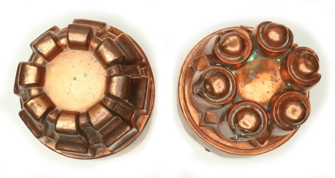 TWO ANTIQUE COPPER JELLY MOLDS - 3