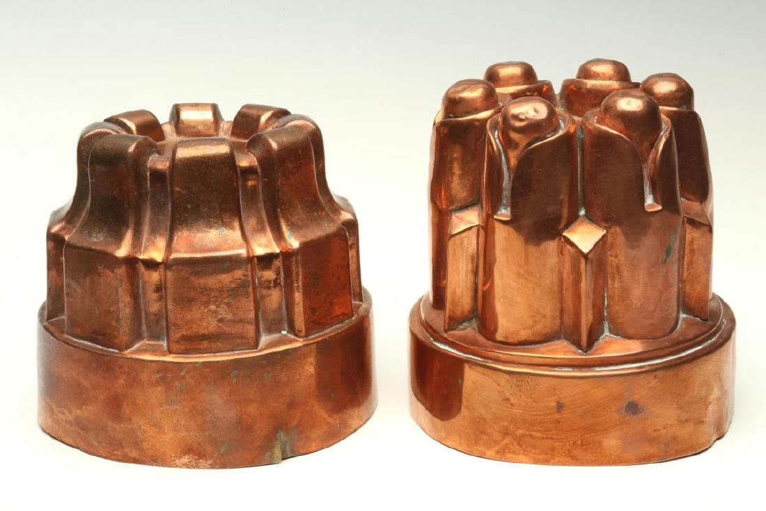 TWO ANTIQUE COPPER JELLY MOLDS - 6