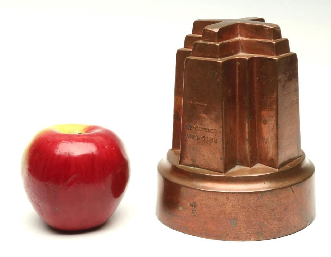 AN ANTIQUE COPPER JELLY MOLD SIGNED BENHAM & FROUD - 2
