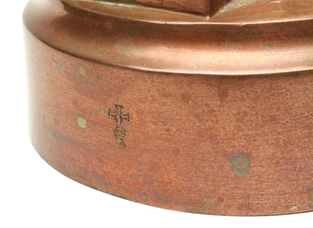 AN ANTIQUE COPPER JELLY MOLD SIGNED BENHAM & FROUD - 4