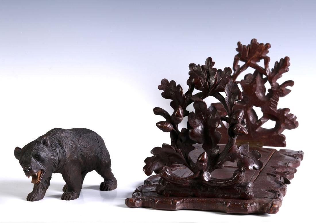 TWO EARLY 20TH CENTURY BLACK FOREST CARVINGS