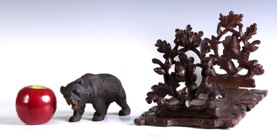 TWO EARLY 20TH CENTURY BLACK FOREST CARVINGS - 2