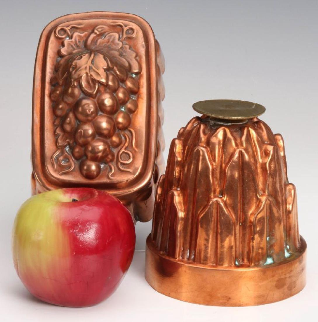 TWO ANTIQUE COPPER FOOD MOLDS - 2