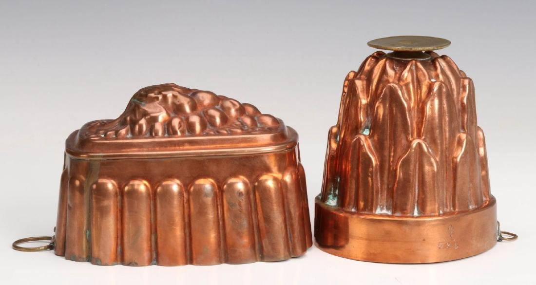 TWO ANTIQUE COPPER FOOD MOLDS - 4
