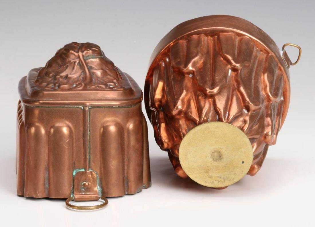 TWO ANTIQUE COPPER FOOD MOLDS - 6