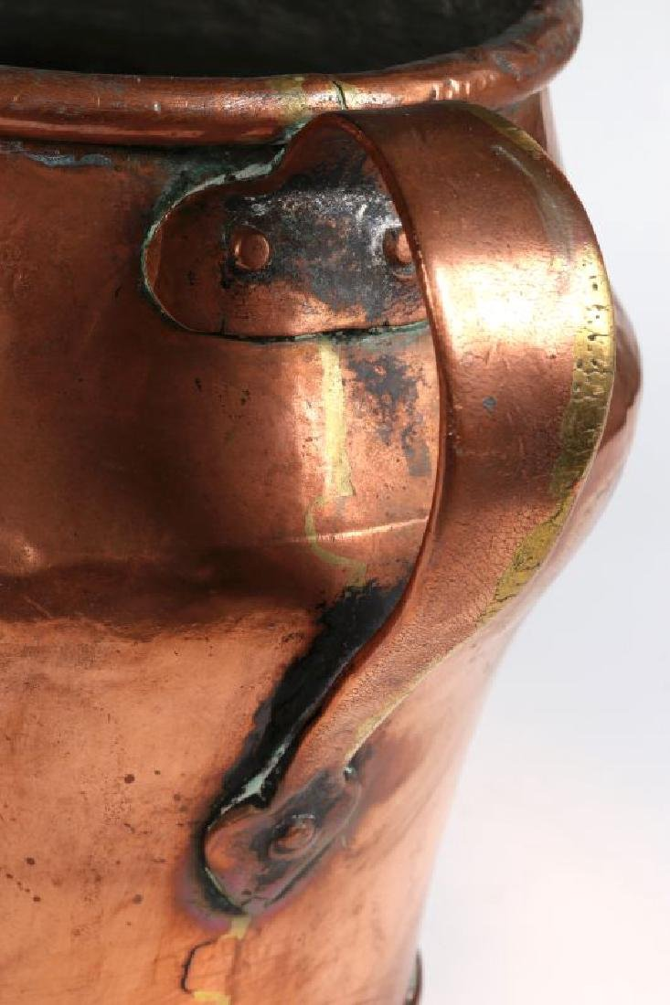 AN ANTIQUE ONE GALLON COPPER MEASURE - 4