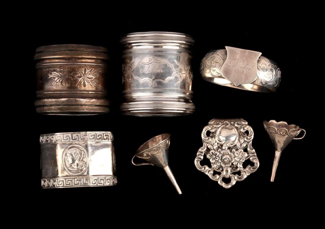 AN ESTATE LOT OF STERLING SILVER ARTICLES