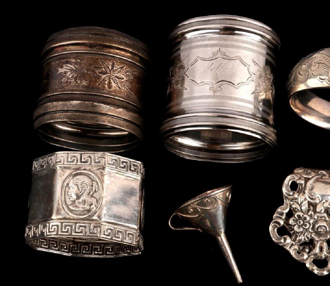 AN ESTATE LOT OF STERLING SILVER ARTICLES - 2