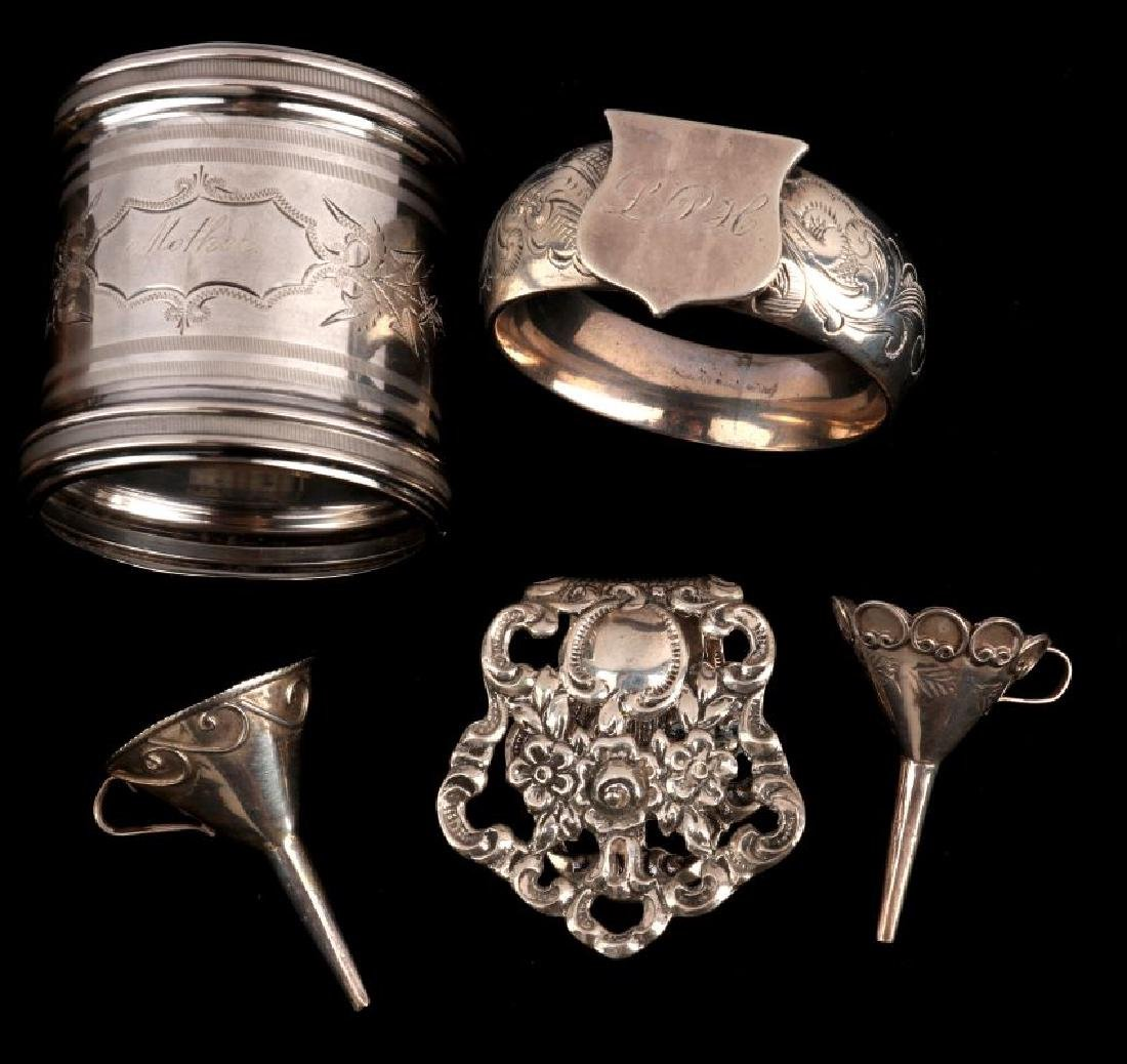 AN ESTATE LOT OF STERLING SILVER ARTICLES - 3