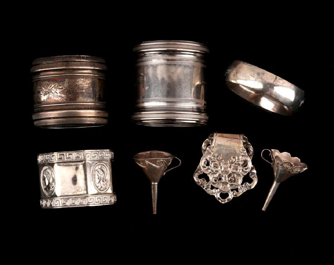 AN ESTATE LOT OF STERLING SILVER ARTICLES - 4