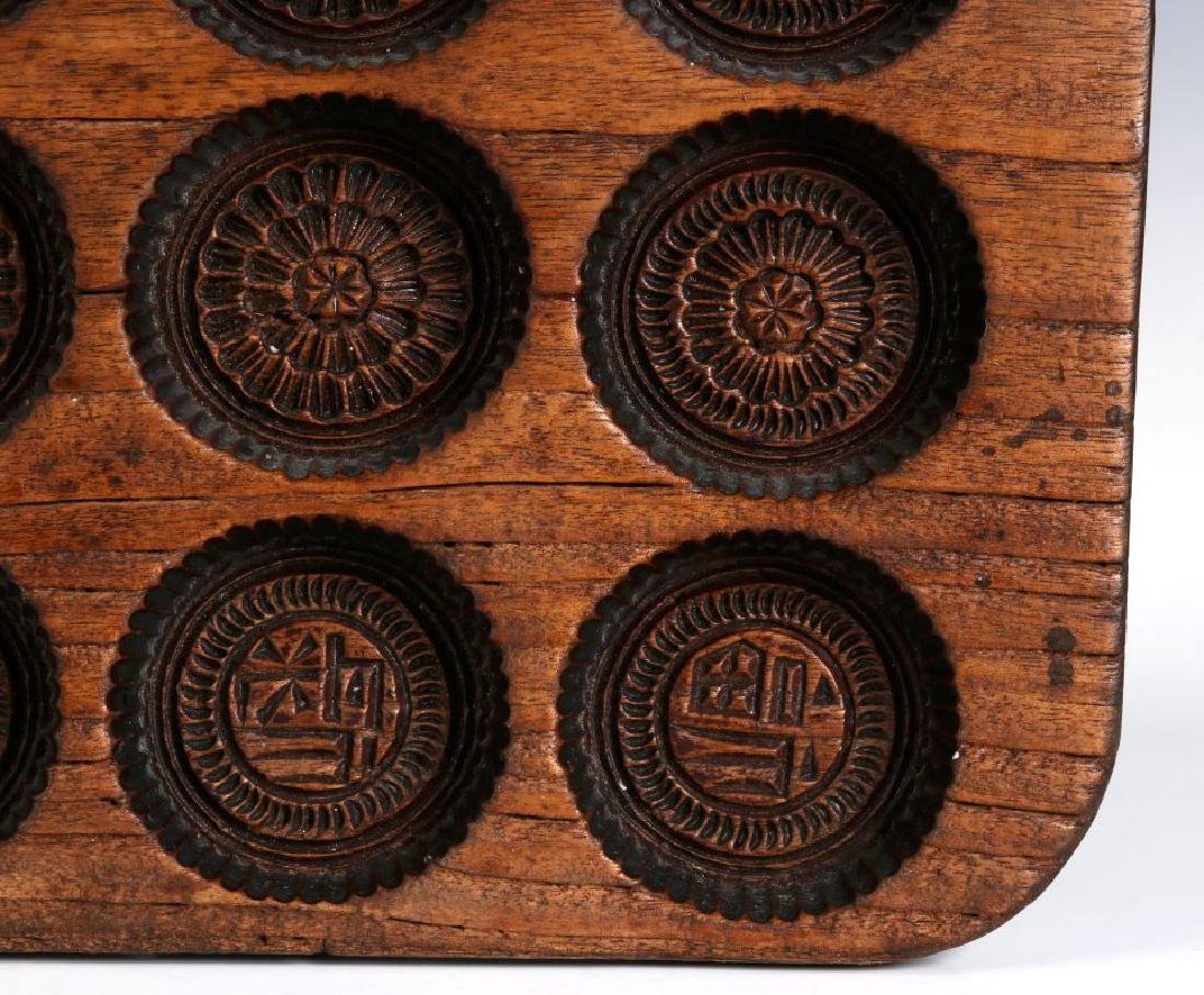 AN ANTIQUE WOODEN SPRINGERLE COOKIE MOLD - 5