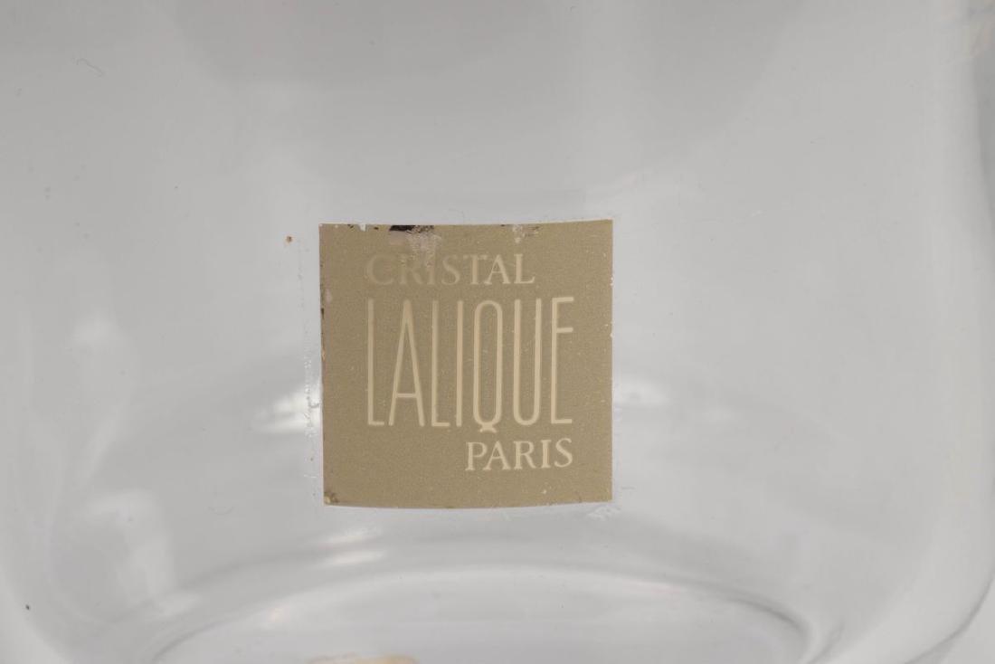 A LALIQUE FRENCH CRYSTAL 'OAK LEAF' DECANTER - 3