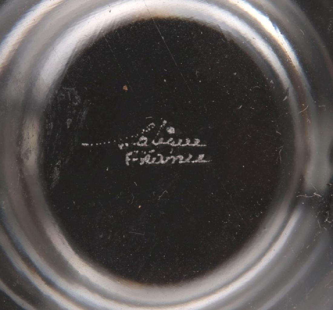A LALIQUE FRENCH CRYSTAL 'OAK LEAF' DECANTER - 6