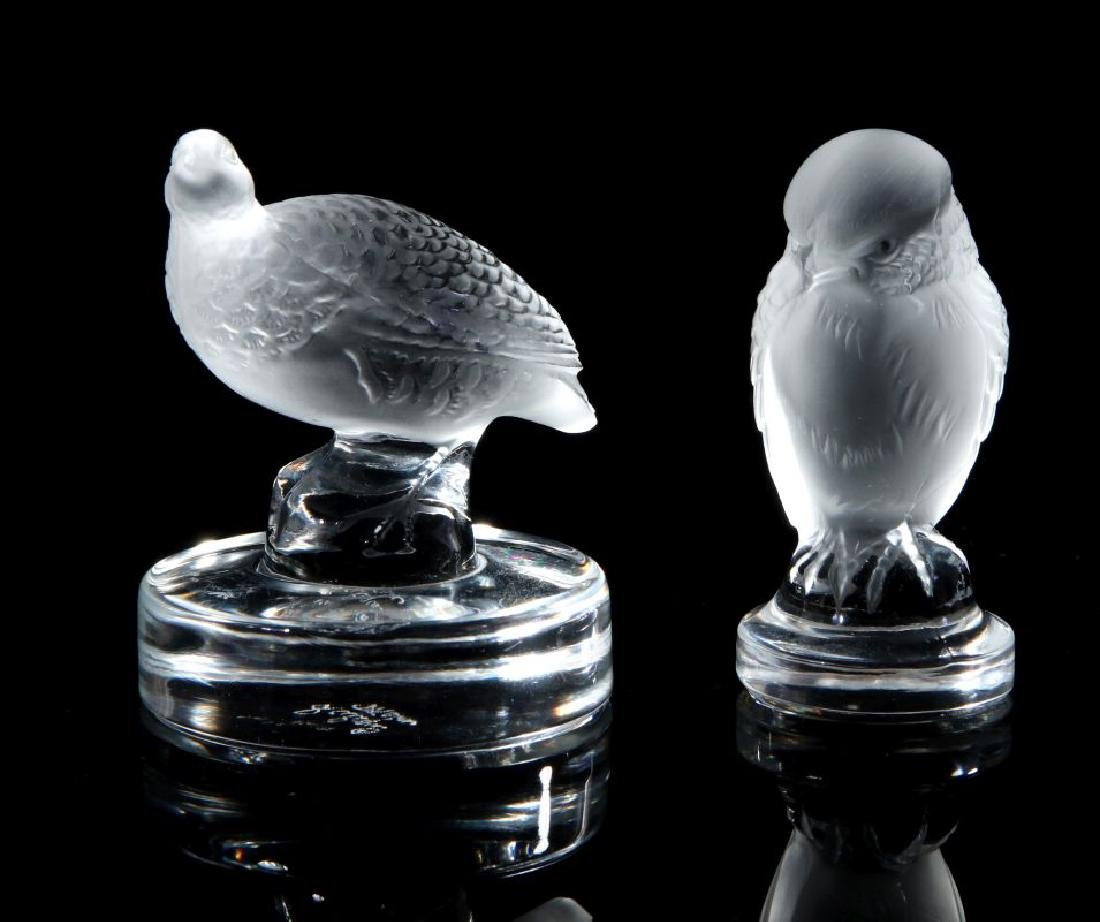 A COLLECTION OF LALIQUE CRYSTAL ITEMS - 8