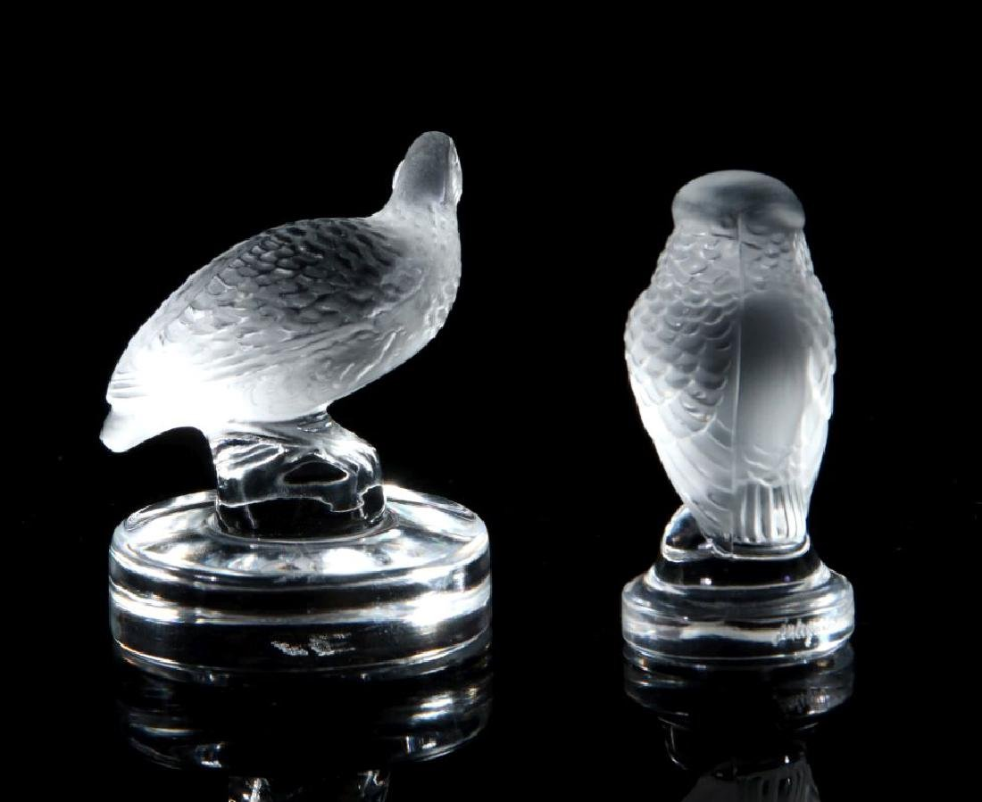 A COLLECTION OF LALIQUE CRYSTAL ITEMS - 9