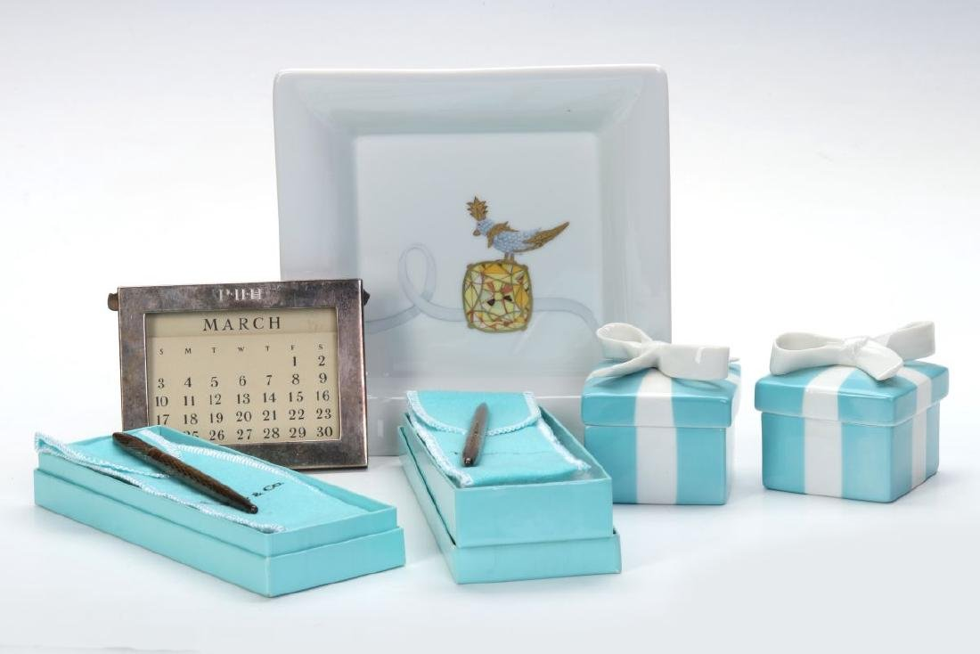 A COLLECTION OF ITEMS RETAILED BY TIFFANY & CO