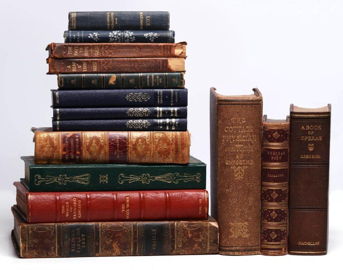LATE 18TH/EARLY 19TH C. LEATHER BOUND BOOKS