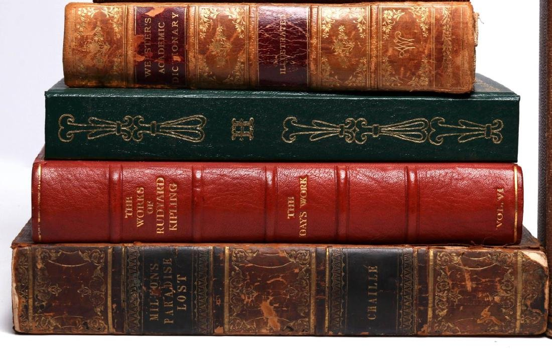 LATE 18TH/EARLY 19TH C. LEATHER BOUND BOOKS - 3