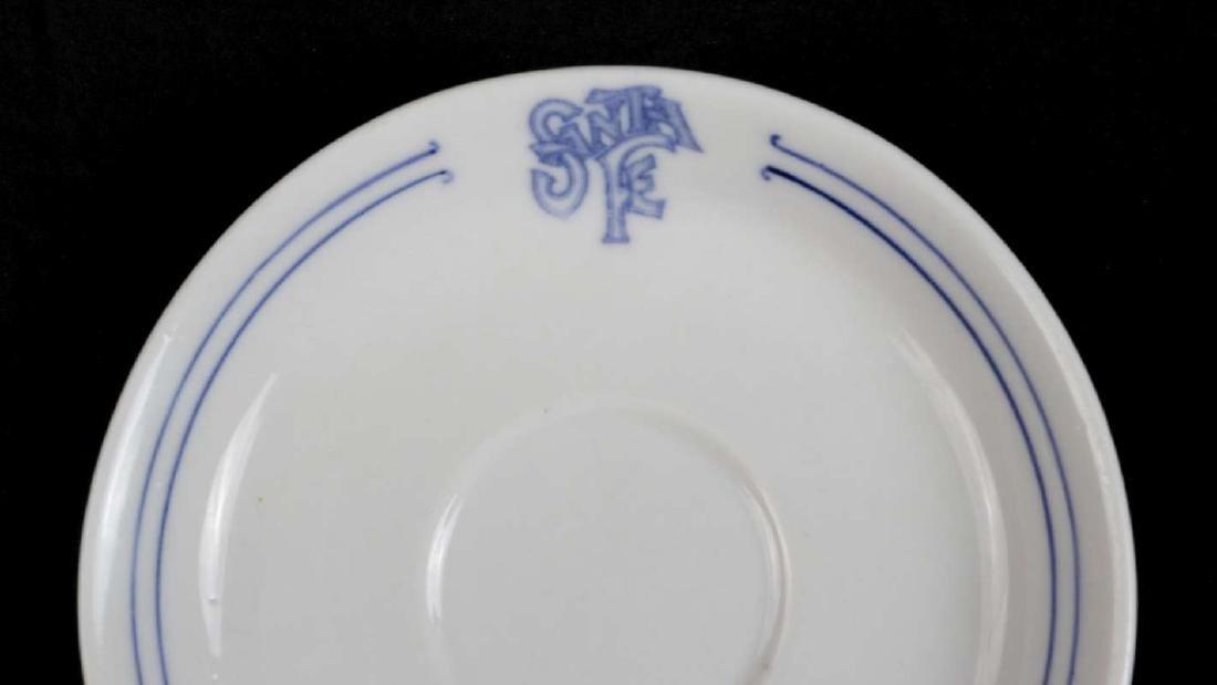AT&SF SANTA FE BLEEDING BLUE DEMITASSE CUP, SAUCER - 10