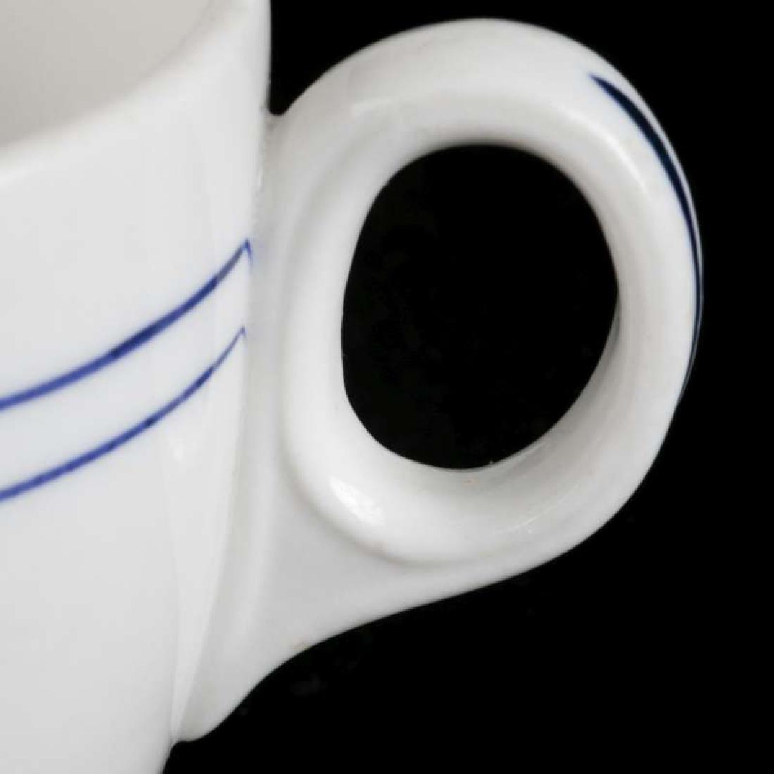 AT&SF SANTA FE BLEEDING BLUE DEMITASSE CUP, SAUCER - 5