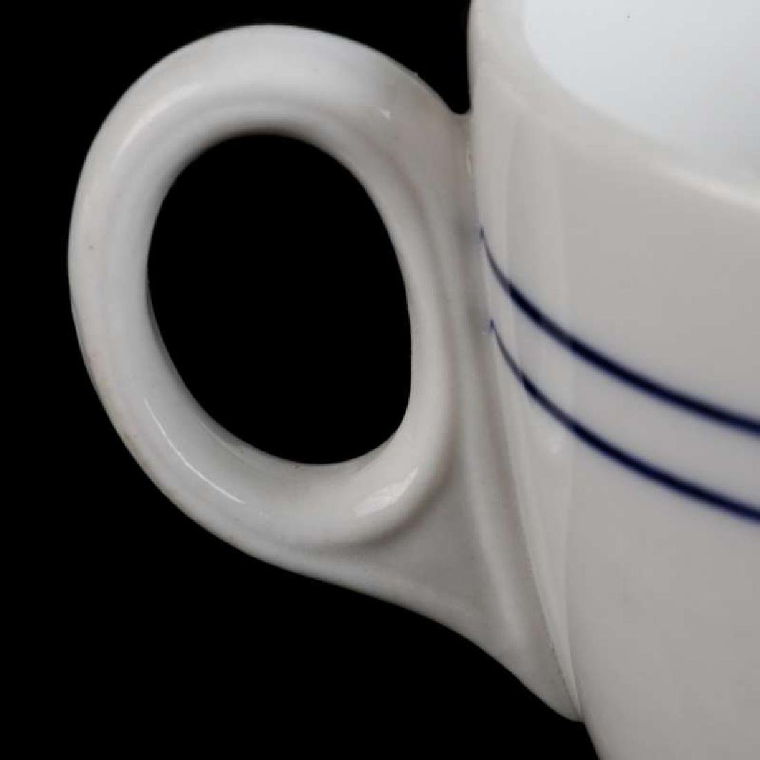 AT&SF SANTA FE BLEEDING BLUE DEMITASSE CUP, SAUCER - 6