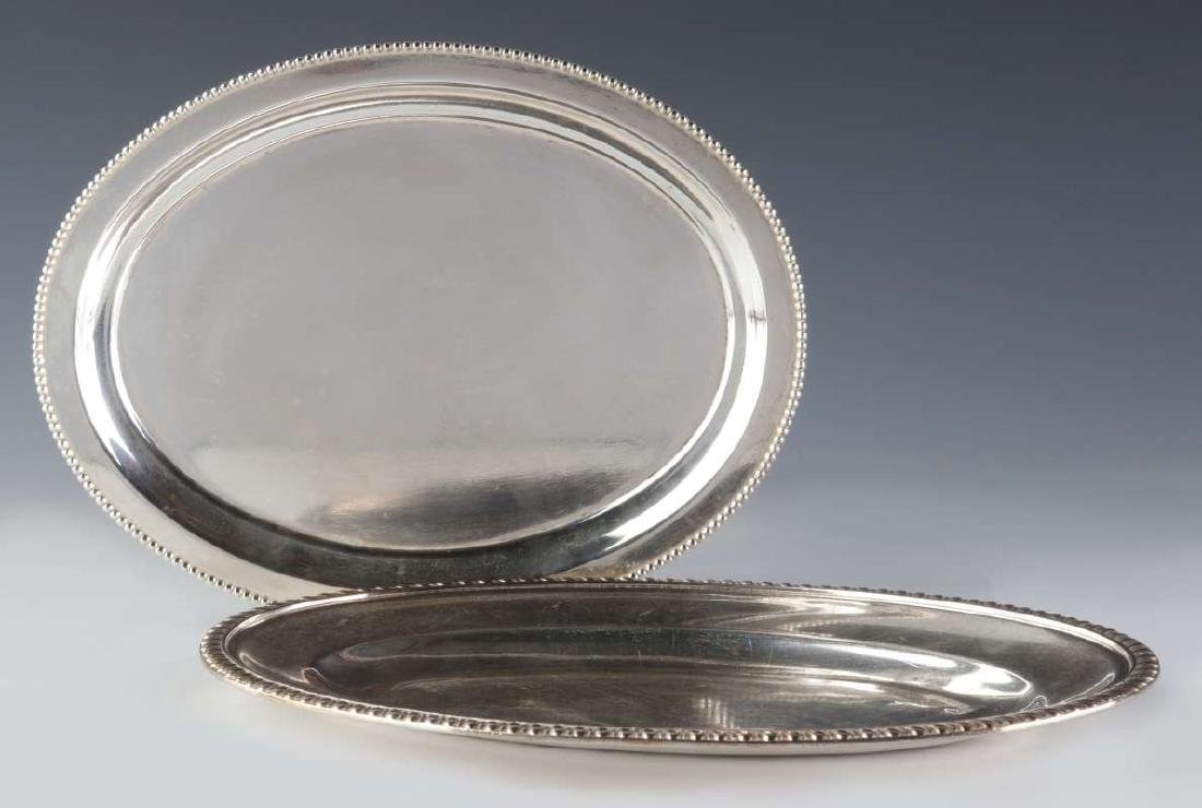 TWO AT&SF SANTA FE RR SILVER SERVING PLATTERS