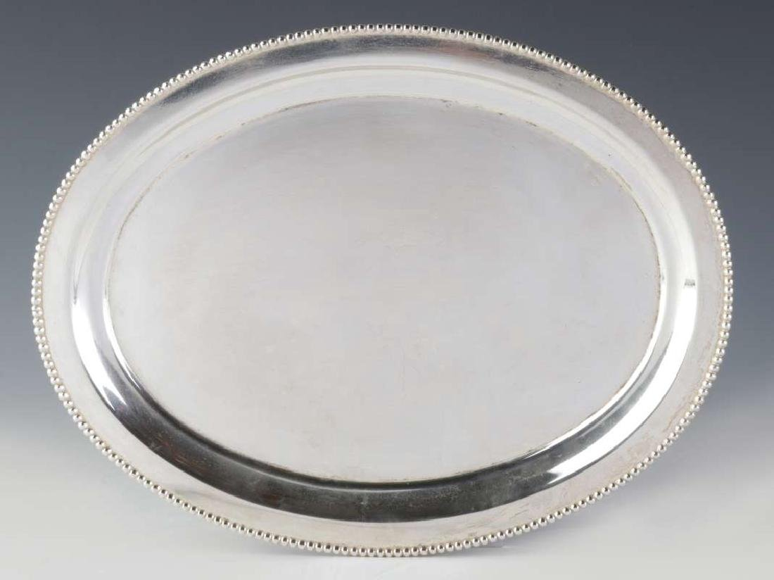 TWO AT&SF SANTA FE RR SILVER SERVING PLATTERS - 3