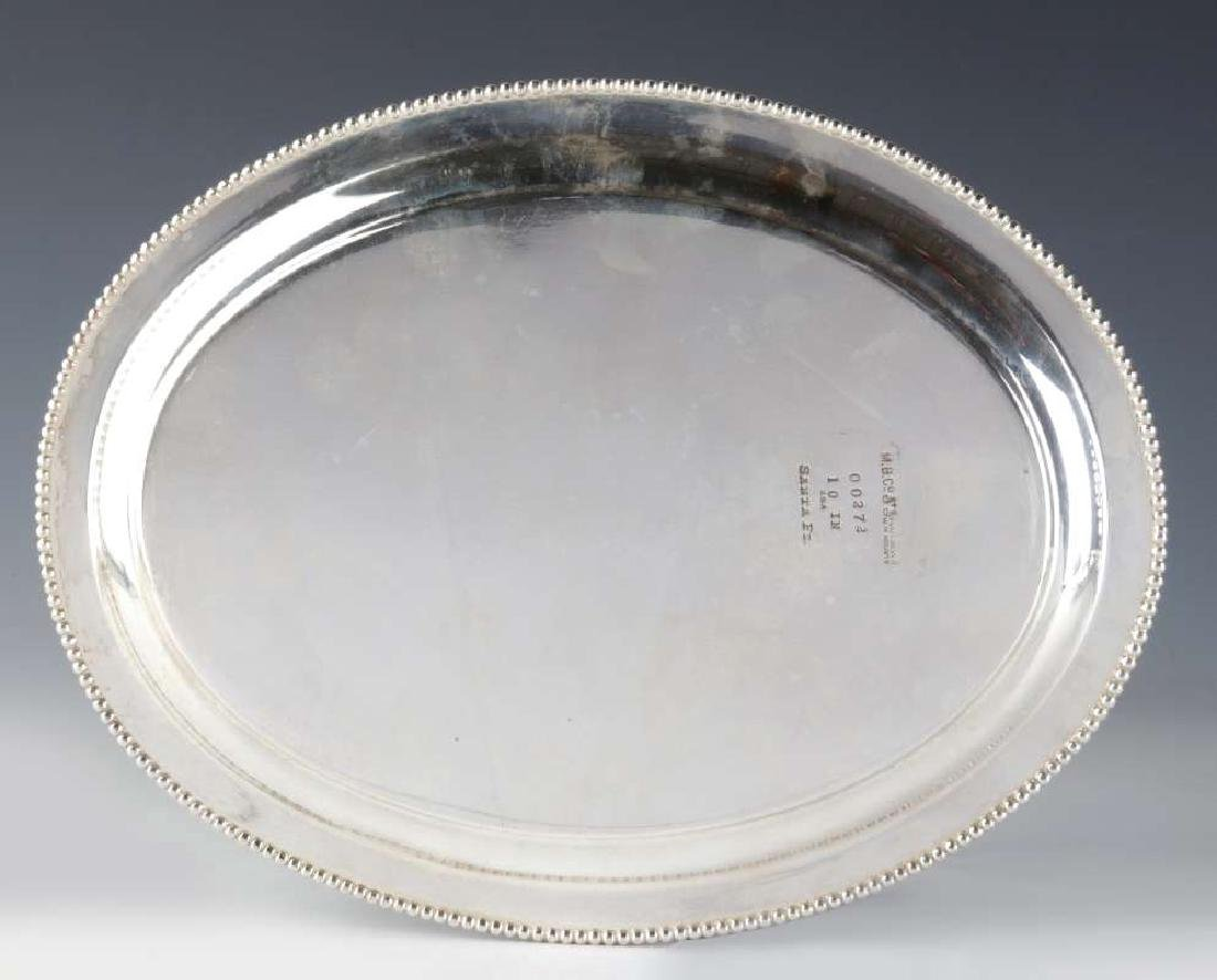 TWO AT&SF SANTA FE RR SILVER SERVING PLATTERS - 5