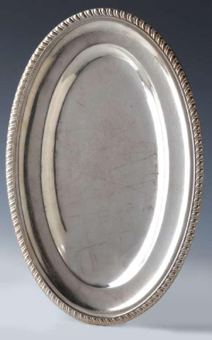 TWO AT&SF SANTA FE RR SILVER SERVING PLATTERS - 7