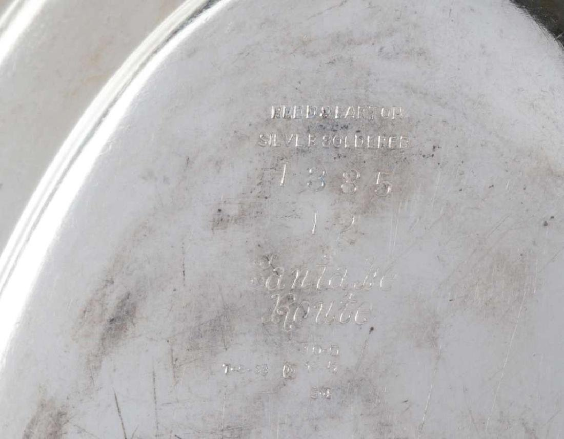 TWO AT&SF SANTA FE RR SILVER SERVING PLATTERS - 9