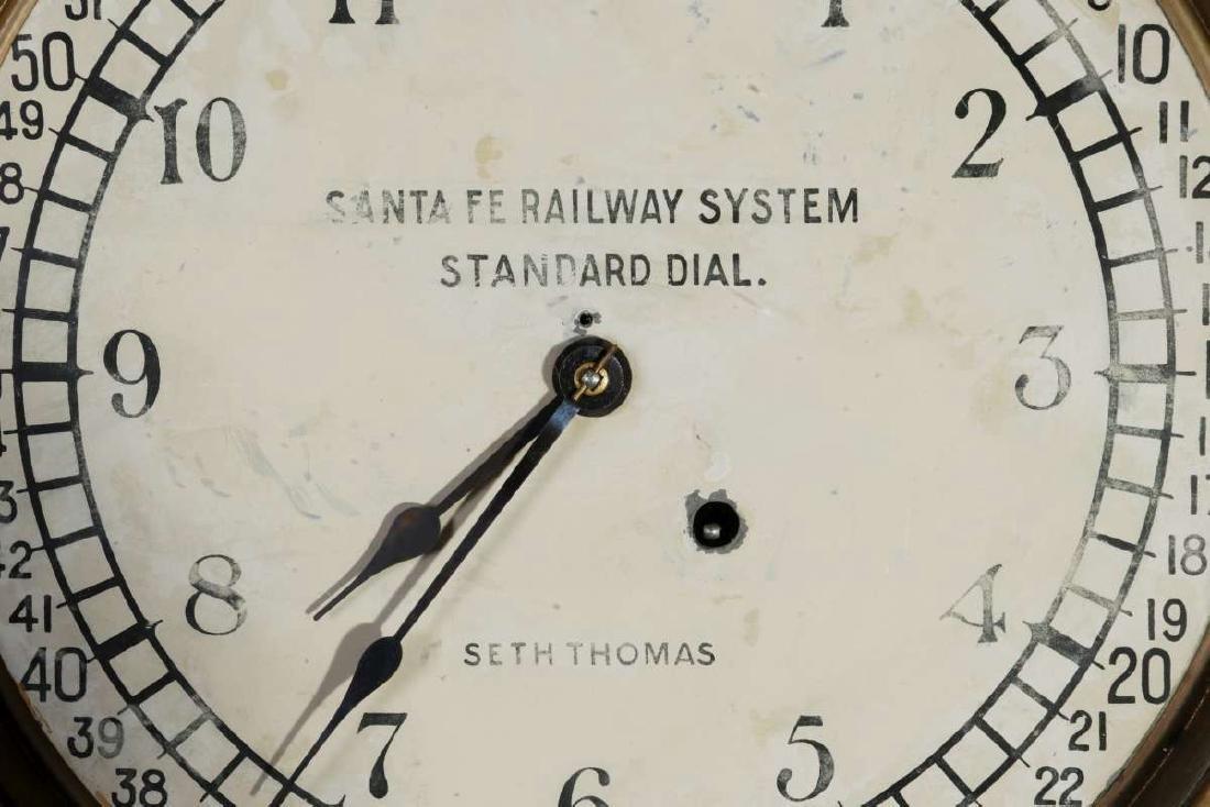 AT&SF RR SETH THOMAS STANDARD DIAL REGULATOR - 4