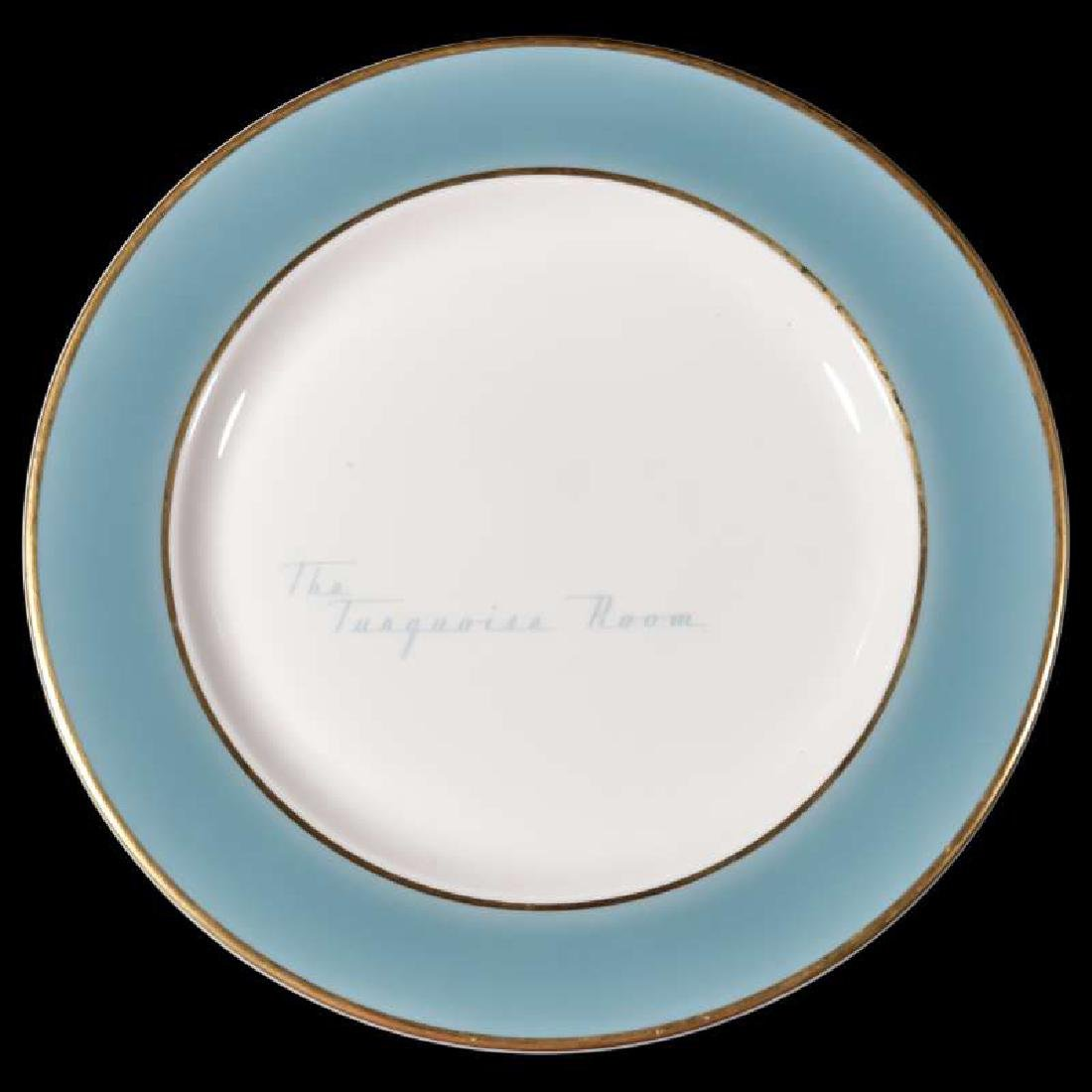 A SCARCE SANTA FE RR u0027TURQUOISE ROOMu0027 DINNER PLATE & Soulis Auctions - The Lewis Collection of Antique Railroadiana