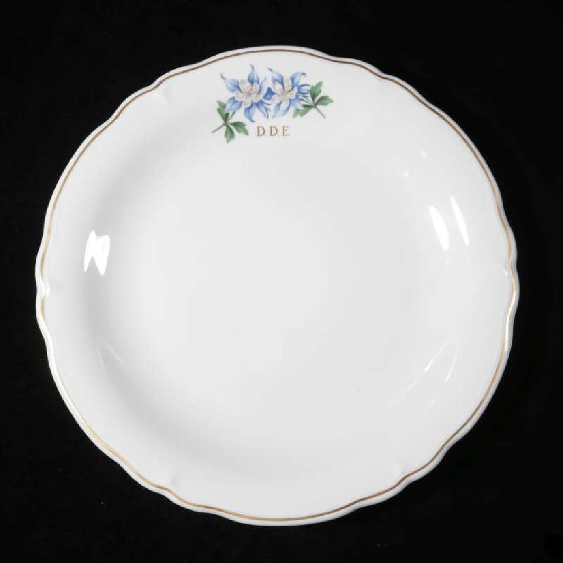 EISENHOWER'S AIR FORCE ONE COLUMBINE DINNER PLATE