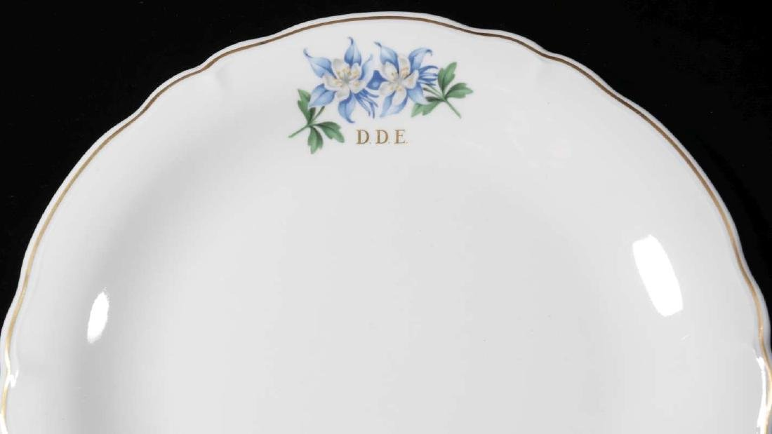 EISENHOWER'S AIR FORCE ONE COLUMBINE DINNER PLATE - 3