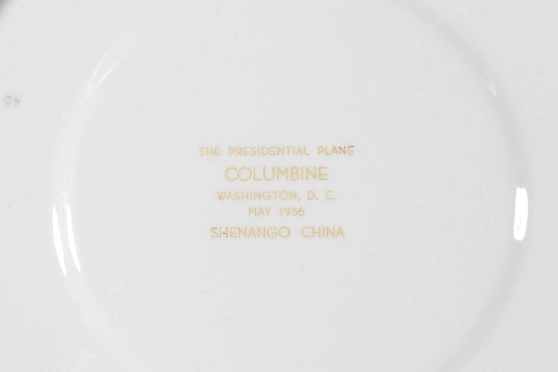 EISENHOWER'S AIR FORCE ONE COLUMBINE DINNER PLATE - 5