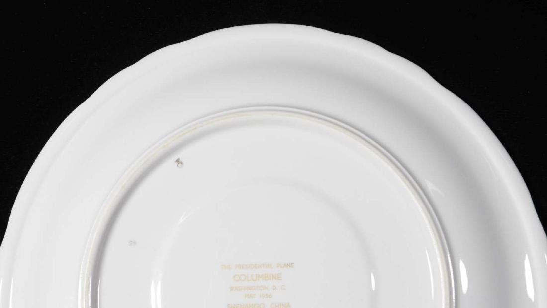 EISENHOWER'S AIR FORCE ONE COLUMBINE DINNER PLATE - 7