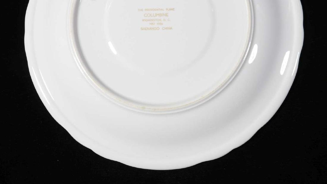 EISENHOWER'S AIR FORCE ONE COLUMBINE DINNER PLATE - 8