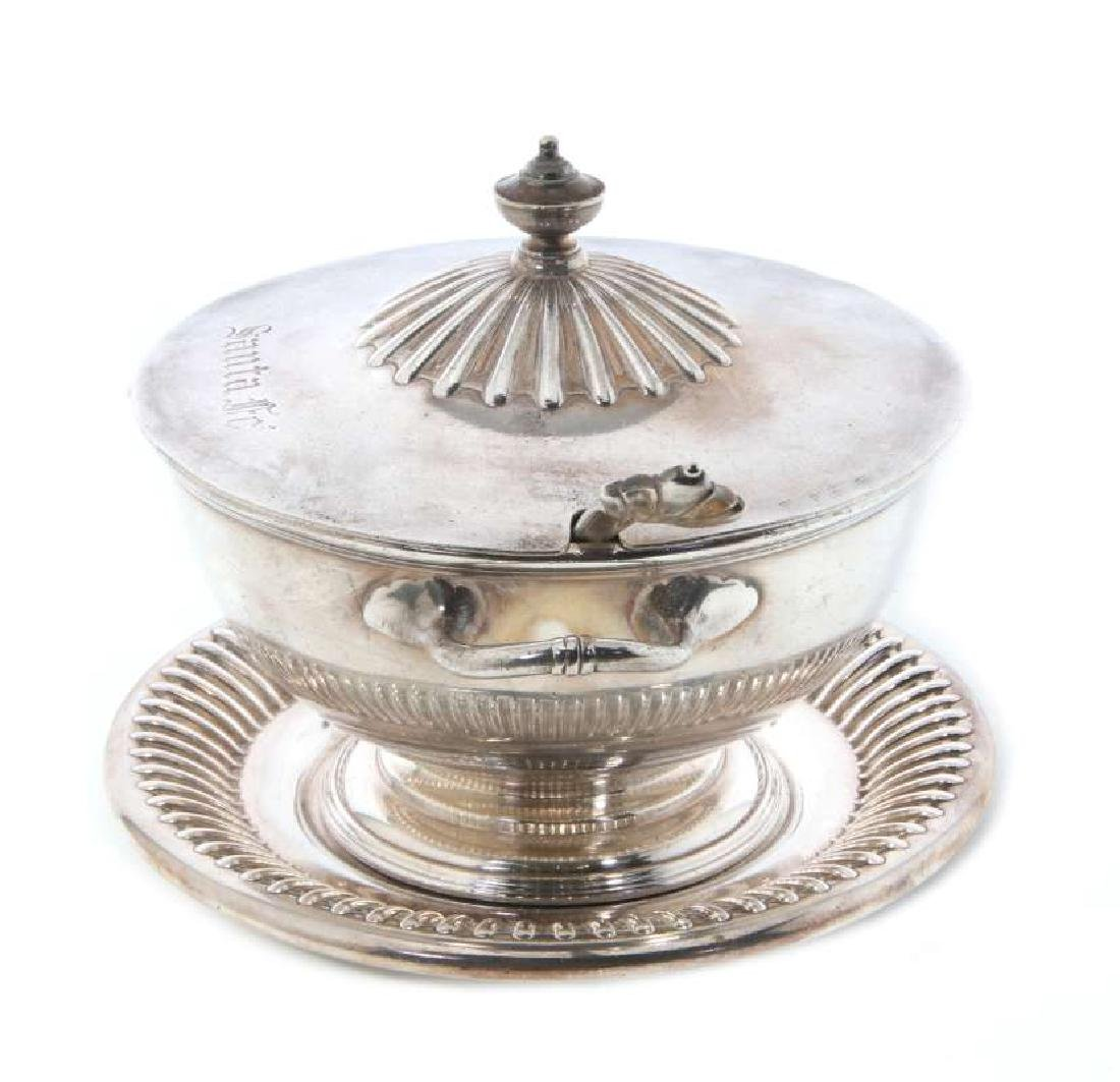 AT&SF RR SILVER TUREEN, COVER, LADLE, UNDERPLATE - 6